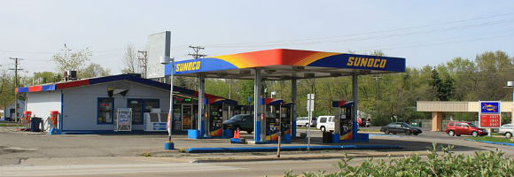 Sunoco Service Station Ypsilanti by Dwight Burdette