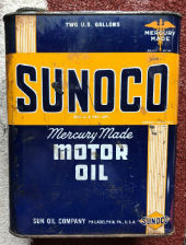 Vintage Sunoco Motor Oil 2 Gallon Can